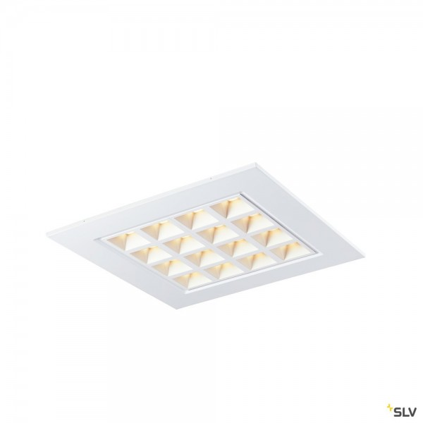SLV 1003076 Pavano, Deckeneinbauleuchte, weiß, 59,5x59,5cm, LED, 25W, 3000K, 3300lm
