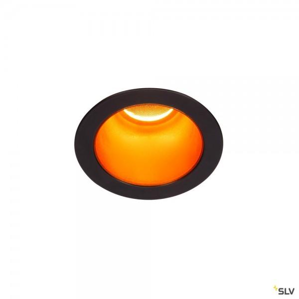 SLV 1002594 Horn Magna, Deckeneinbauleuchte, schwarz/gold, LED, 7,7W, 3000K, 400lm