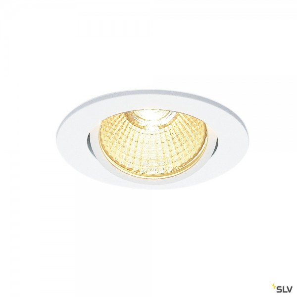 SLV 1001989 New Tria, Deckeneinbauleuchte, Dim to Warm C+L, LED, 7,3W, 1800K-3000K, 440lm