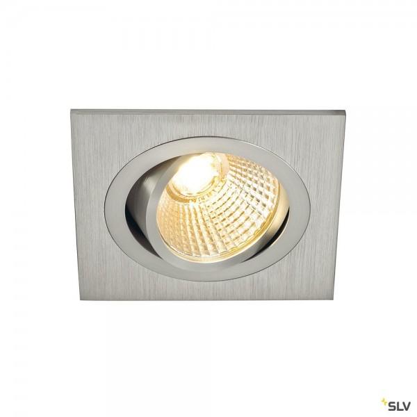SLV 113886 New Tria 1 Set, Deckeneinbauleuchte, alu gebürstet, LED, 8W, 2700K, 645lm