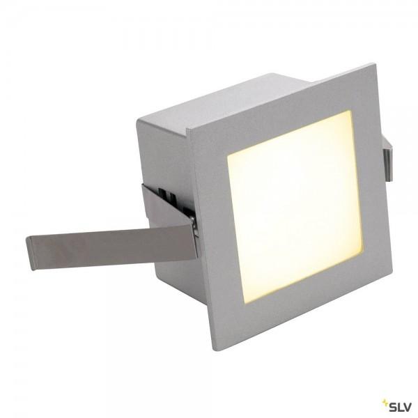 SLV 111262 Frame Basic, Wand- und Deckeneinbauleuchte, silbergrau, LED, 1W, 3000K, 40lm