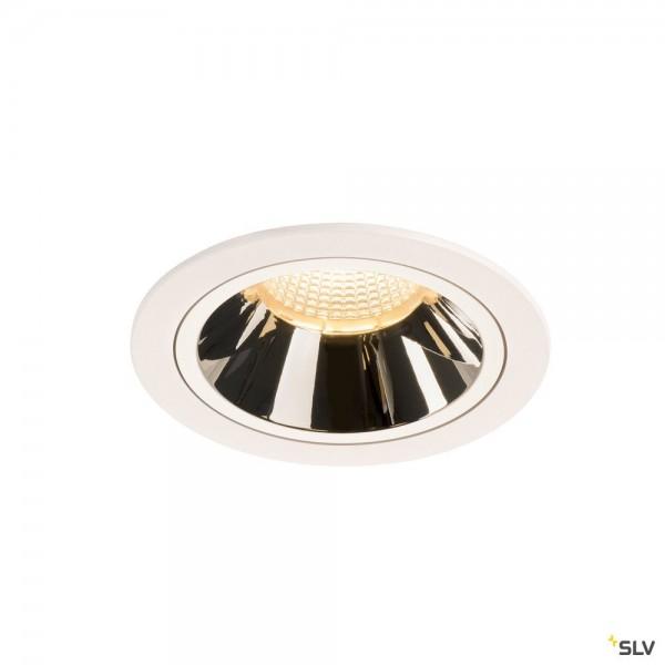 SLV 1003957 Numinos L, Deckeneinbauleuchte, weiß/chrom, LED, 25,41W, 3000K, 2200lm, 55°