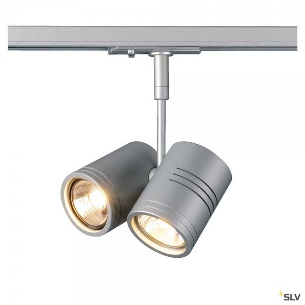 SLV 143432 Bima 2, 1 Phasen, Strahler, silbergrau, QPAR51, GU10, max.2x50W