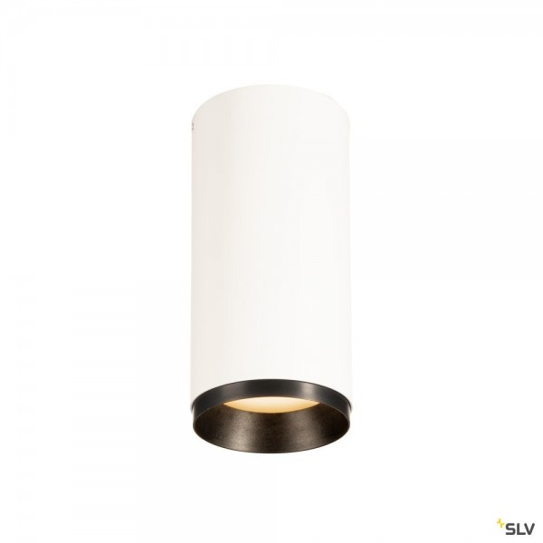 SLV 1004232 Numinos M, Deckenleuchte, weiß/schwarz, dimmbar C, LED, 20,1W, 3000K, 1870lm, 60°