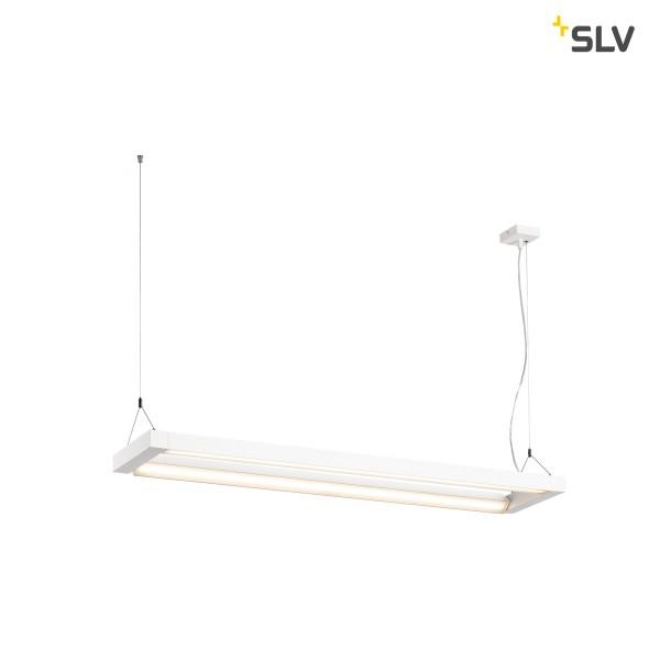 SLV 1000393 Long Grill, Pendelleuchte, weiß, LED, 75W, 3000K, 6500lm