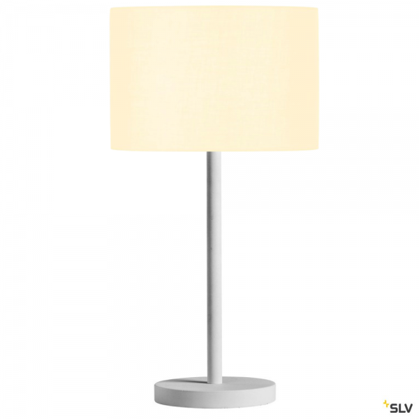 SLV 1003030 + 155582 Fenda, Tischleuchte, weiß, Ø30cm, E27, max.60W