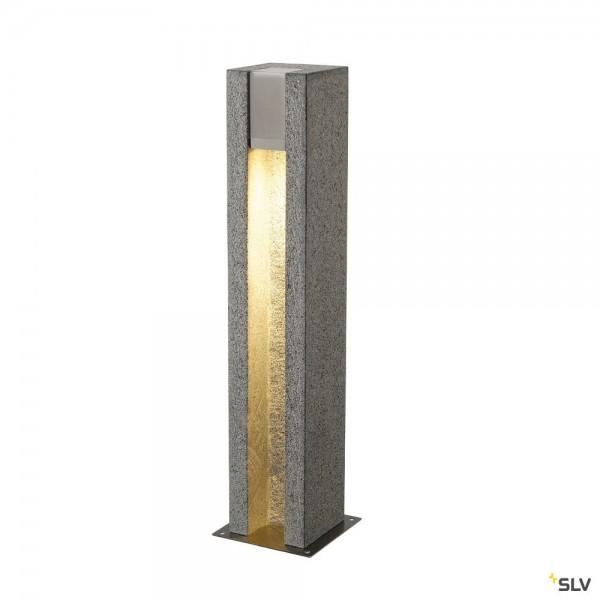 SLV 231440 Arrock Slot, Standleuchte, Edelstahl/Granit, salt&pepper, IP44, QPAR51, LED GU10, max.4W