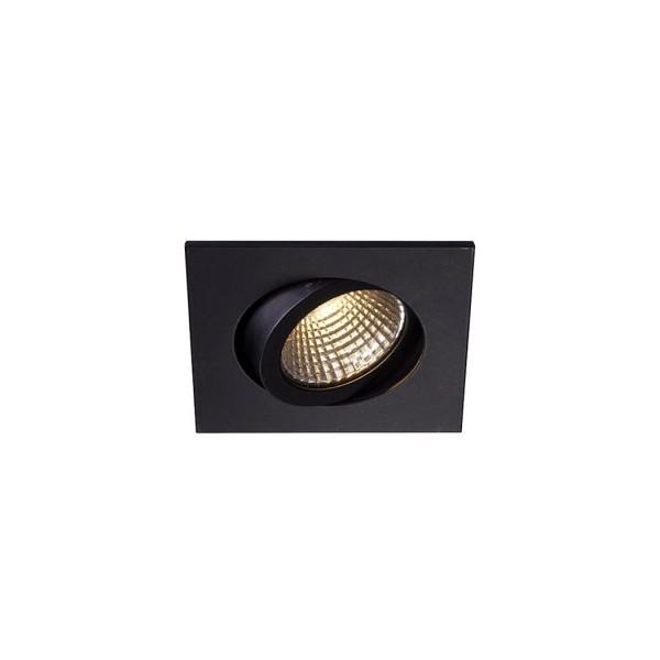 SLV 1000306 Pireq 68 Integrated, Einbauleuchte, schwarz, IP23, LED, 6,6W, 3000K, 580lm