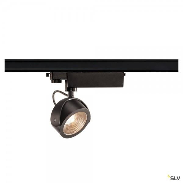 SLV 153600 Kalu, 3Phasen, Strahler, schwarz, dimmbar Triac C, LED, 17W, 3000K, 1000lm, 24°