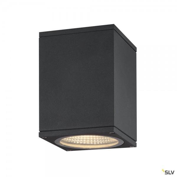 SLV 1003420 Enola Square S, Deckenleuchte, anthrazit, IP65, LED, 9W, 3000K/4000K, 580lm