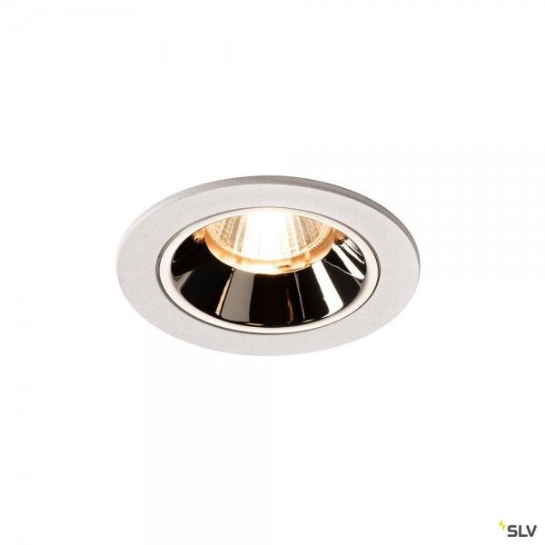 SLV 1003786 Numinos S, Deckeneinbauleuchte, weiß/chrom, LED, 8,6W, 2700K, 690lm, 40°