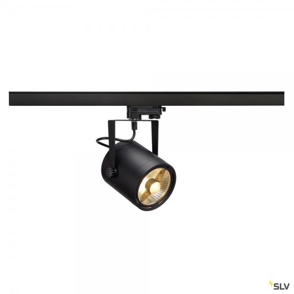 SLV 153420 Euro Spot, 3Phasen, Strahler, schwarz, QPAR111, GU10, max.75W