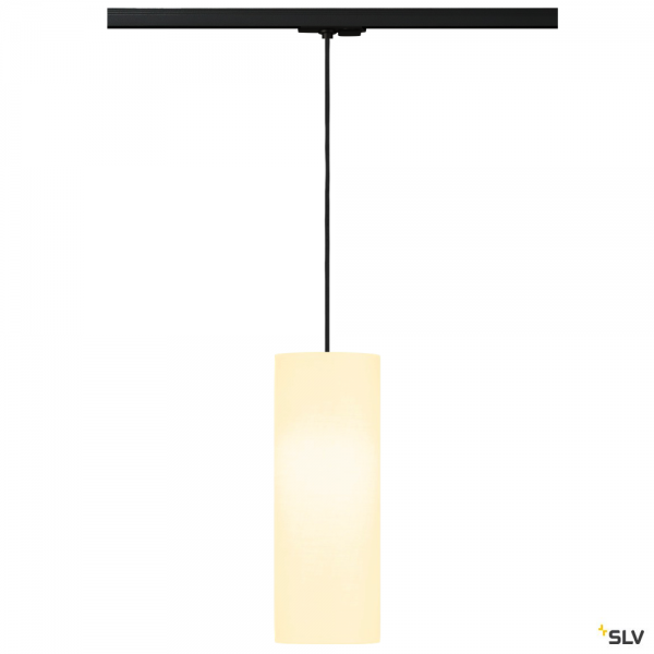 SLV 143120 + 132660 + 156141 Fenda, 1 Phasen, Pendelleuchte, schwarz/weiß, Ø15cm, E27, max.60W