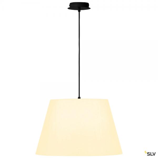 SLV 155560 + 156181 Fenda, Pendelleuchte, schwarz/weiß, Ø45,5cm, E27, max.60W