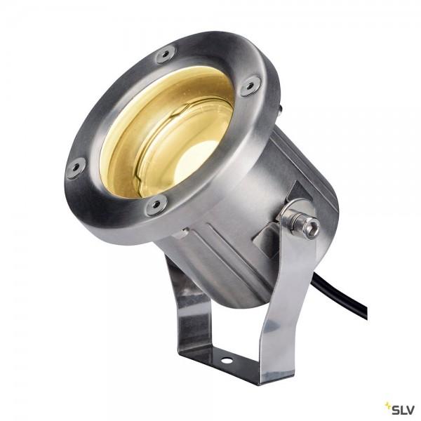 SLV 1001962 Nautilus Spike, Strahler, Edelstahl gebürstet, mit Netzstecker, IP55, LED, 9W, 3000K, 52