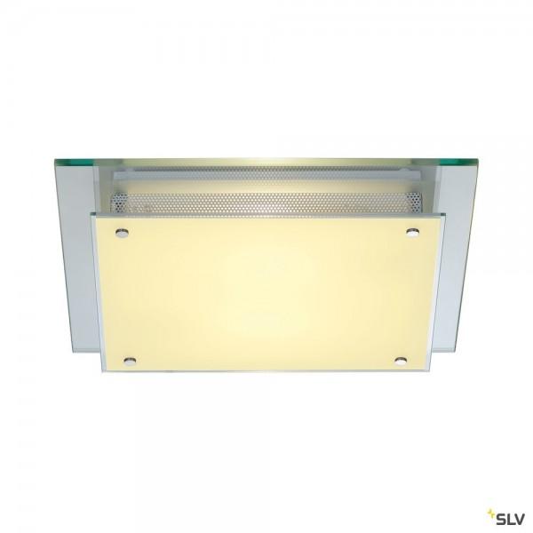 SLV 155180 Glassa, Wand- und Deckenleuchte, transparent, E27, max.2x60W