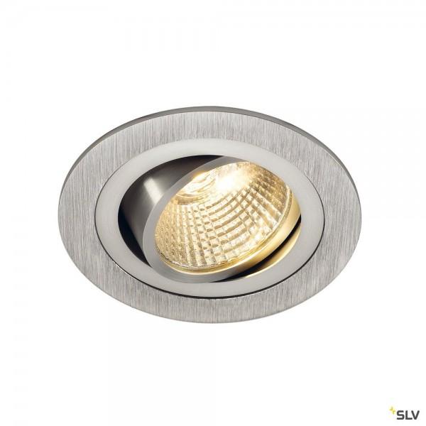 SLV 113876 New Tria 1 Set, Deckeneinbauleuchte, alu gebürstet, LED, 8W, 2700K, 645lm