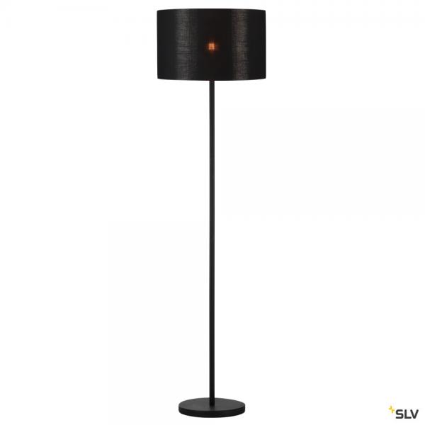 SLV 155790 + 156122 Fenda, Stehleuchte, schwarz/kupfer, Ø45,5cm, E27, max.60W