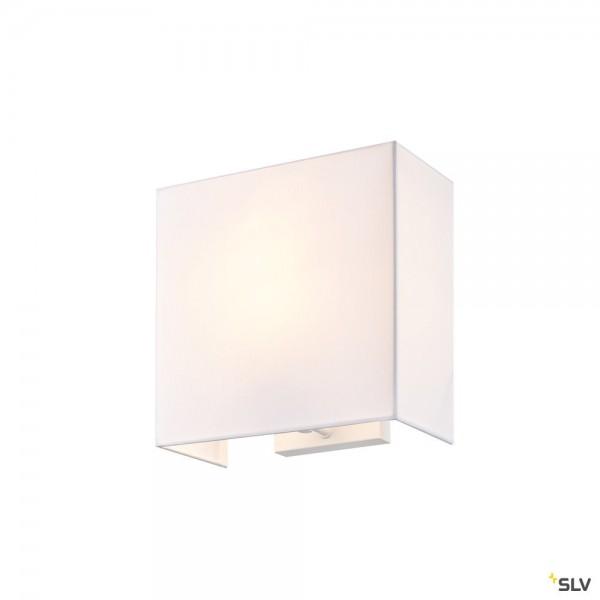 SLV 1002943 Accanto Square, Wandleuchte, weiß, E27, max.40W