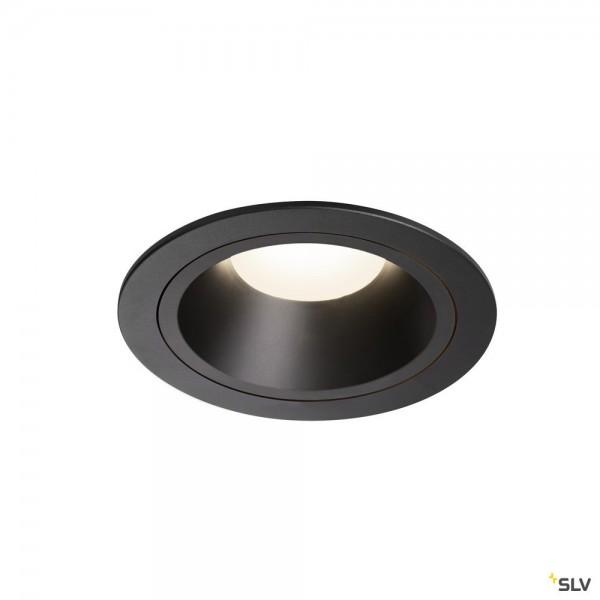 SLV 1003961 Numinos L, Deckeneinbauleuchte, schwarz, LED, 25,41W, 4000K, 2350lm, 20°