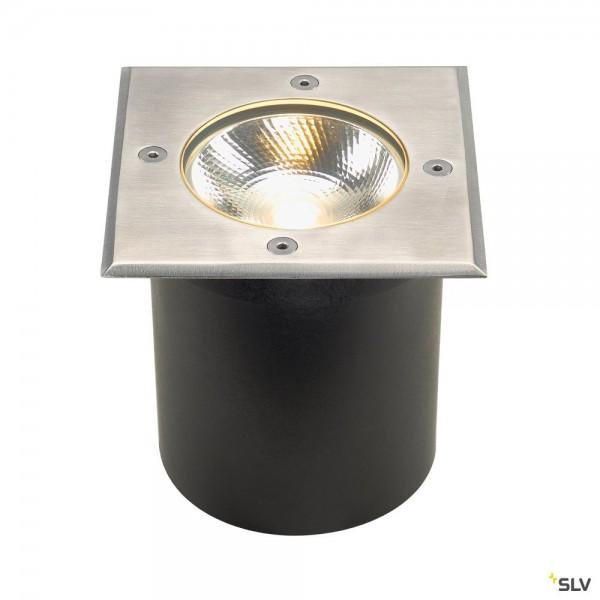 SLV 227604 Rocci 125, Bodeneinbauleuchte, Edelstahl, IP67, LED, 8,6W, 3000K, 580lm