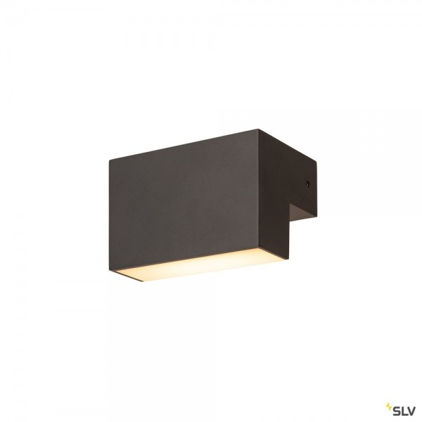 SLV 1003539 L-Line Out, Wandleuchte, anthrazit, IP65, LED, 7W, 3000/4000K, 570lm