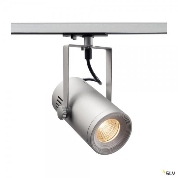 SLV 1001487 Euro Spot, 1 Phasen, Strahler, silbergrau, LED, 11W, 3000K, 650lm