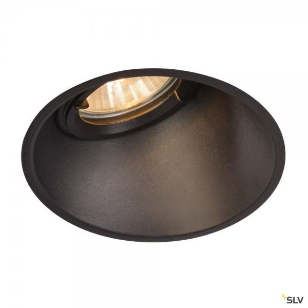 SLV 113150 Horn-A, Deckeneinbauleuchte, schwarz matt, IP21, QPAR51, GU10, max.50W