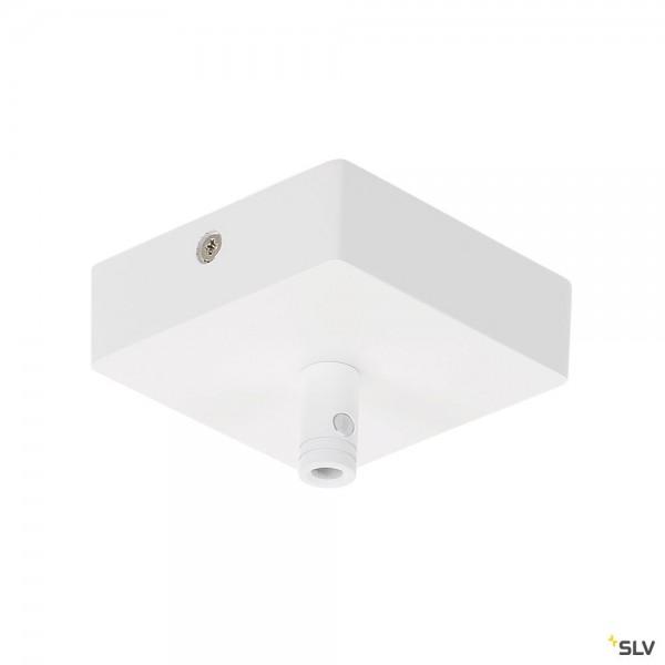 SLV 210061 Glenos, Deckenrosette, weiß matt