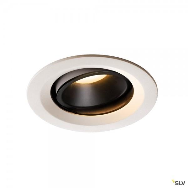 SLV 1003589 Numinos Move M, Deckeneinbauleuchte, weiß/schwarz, LED, 17,55W, 3000K, 1500lm, 20°