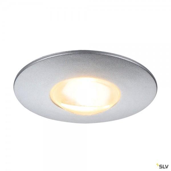 SLV 112242 Dekled, Wand- und Bodeneinbauleuchte, silbergrau, LED, 1W, 3000K, 60lm