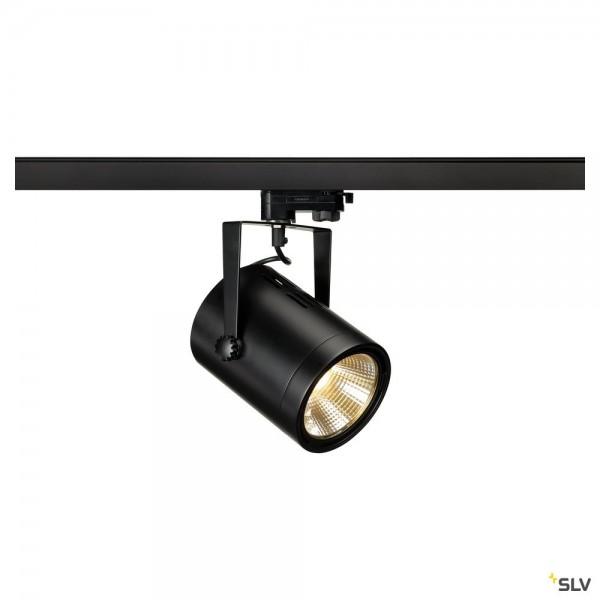 SLV 1002681 Euro Spot Track, 3Phasen, Strahler, schwarz, LED, 20W, 3000K, 1800lm