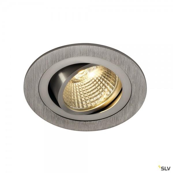SLV 113906 New Tria 1 Set, Deckeneinbauleuchte, alu gebürstet, LED, 8W, 3000K, 700lm