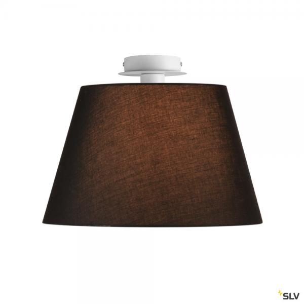 SLV 155551 + 156180 Fenda, Deckenleuchte, weiß/schwarz, Ø45,5cm, E27, max.60W