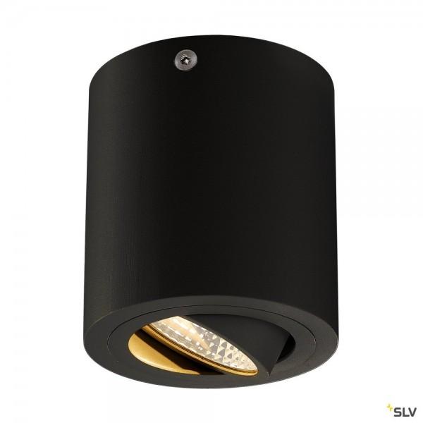 SLV 113930 Triledo Round, Deckenleuchte, schwarz matt, LED, 8,1W, 3000K, 670lm