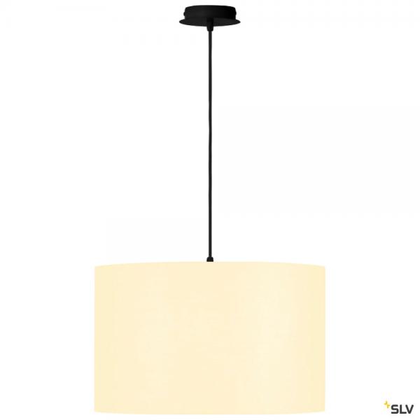 SLV 155560 + 156111 Fenda, Pendelleuchte, schwarz/weiß, Ø45,5cm, E27, max.60W