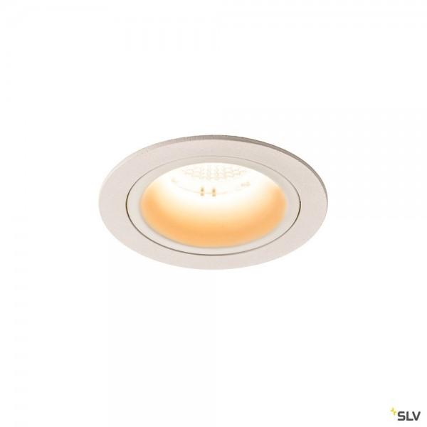 SLV 1003857 Numinos M, Deckeneinbauleuchte, weiß, LED, 17,55W, 2700K, 1600lm, 40°