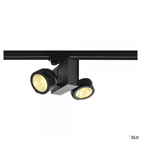 SLV 1001427 Tec Kalu 2, 3Phasen, Strahler, schwarz, dimmbar Triac C, LED, 31W, 3000K, 1900lm, 24°