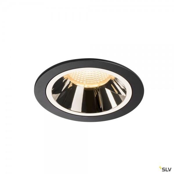 SLV 1003939 Numinos L, Deckeneinbauleuchte, schwarz/chrom, LED, 25,41W, 3000K, 2200lm, 20°