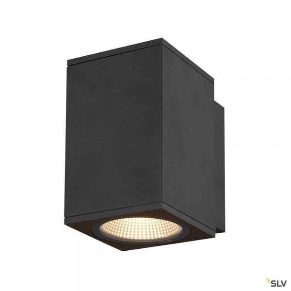 SLV 1003417 Enola Square M, Wandleuchte, anthrazit, IP65, LED, 10W, 3000K/4000K, 820lm