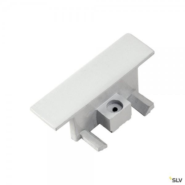 SLV 143281 1 Phasen, Einbauschiene, Endkappen, weiß