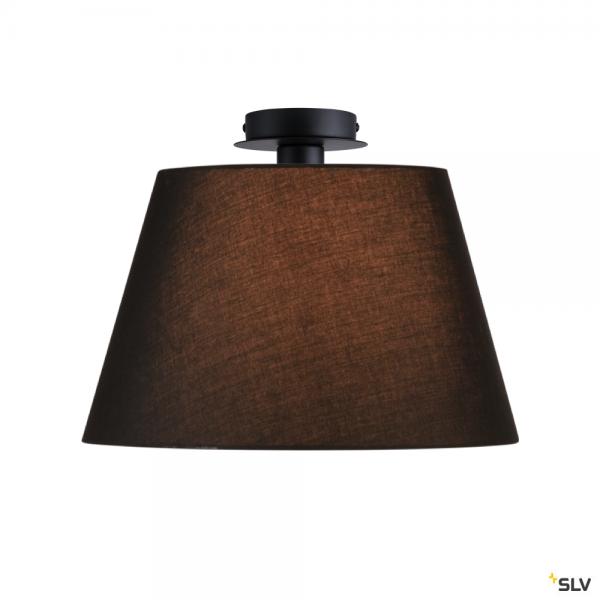 SLV 155550 + 156180 Fenda, Deckenleuchte, schwarz, Ø45,5cm, E27, max.60W