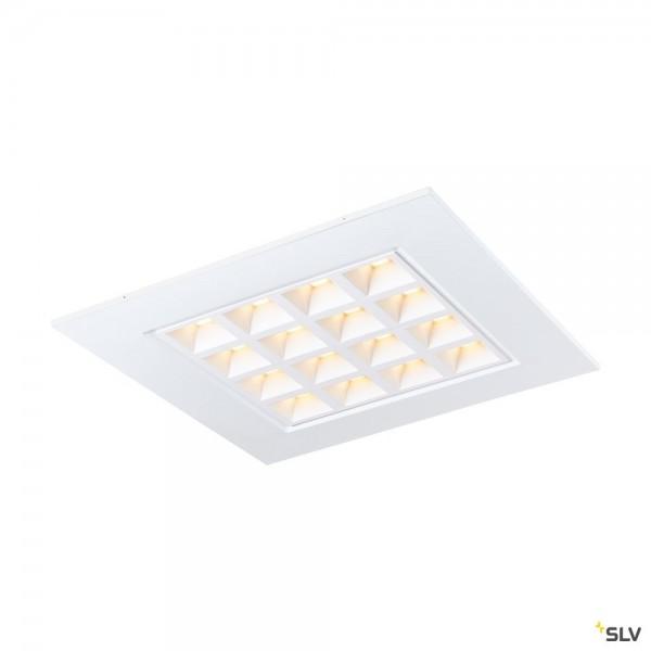 SLV 1003078 Pavano, Deckeneinbauleuchte, weiß, 62x62cm, LED, 25W, 3000K, 3300lm