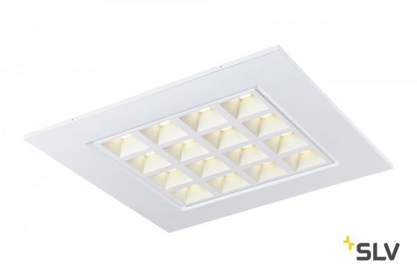 SLV 1003079 Pavono, Deckeneinbauleuchte, 62x62cm, weiß, LED, 25W, 4000K, 3550lm