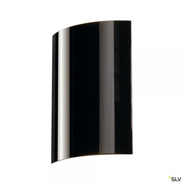 SLV 151610 LED Sail 2, Wandleuchte, schwarz glänzend, up&down, LED, 6W, 3000K, 85lm