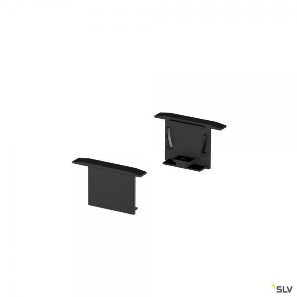 SLV 1000558 Endkappen 2 Stück, schwarz, Grazia 20