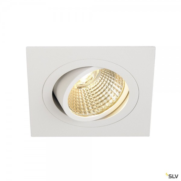 SLV 113881 New Tria 1 Set, Deckeneinbauleuchte, weiß, LED, 8W, 2700K, 645lm