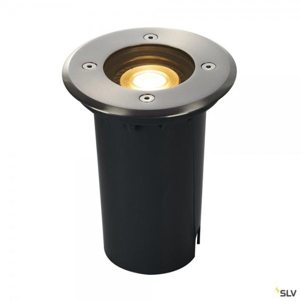 SLV 227680 Solasto 120, Bodeneinbauleuchte, Edelstahl, IP67, LED GU10 51mm, max.6W
