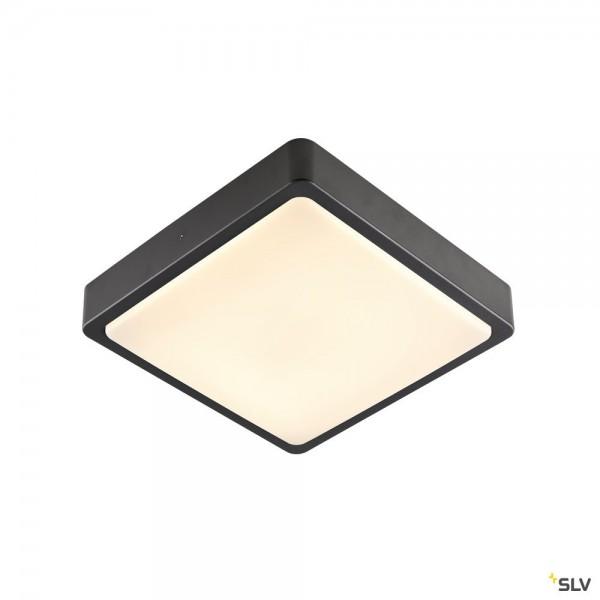 SLV 1003452 Ainos Square Sensor, anthrazit, IP65, LED, 18W, 3000K/4000K, 1300lm