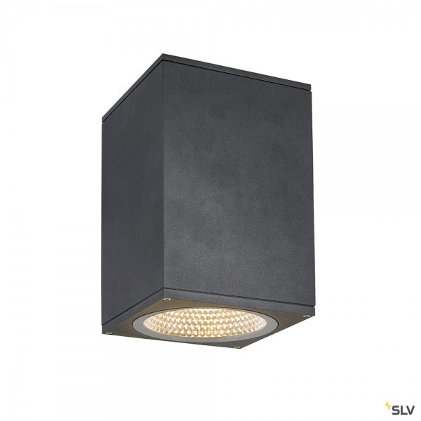 SLV 1003439 Enola Square L, Deckenleuchte, anthrazit, IP65, LED, 35W, 3000K/4000K, 2800lm